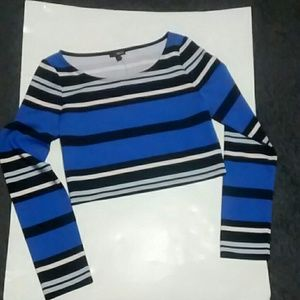 NWT Express Long Sleeve Fitted Crop Top
